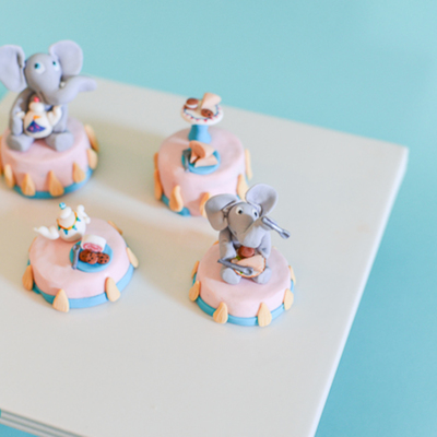 Carnival Tea Party Cupcake Toppers