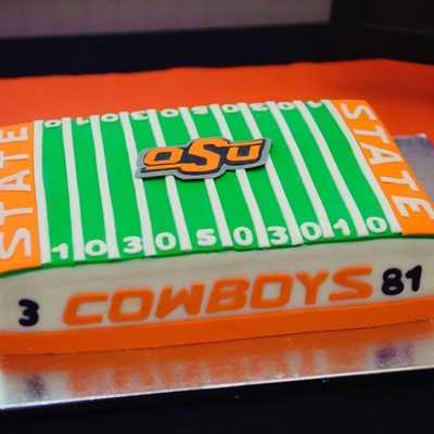 Oklahoma State Themed Grooms Cake