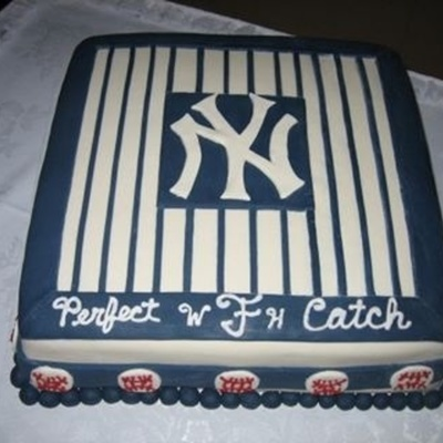 Yankees Themed Grooms Cake