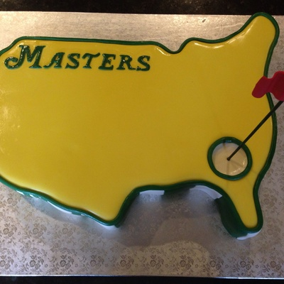 Masters Themed Grooms Cake