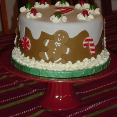 Gingerbread Man Cake