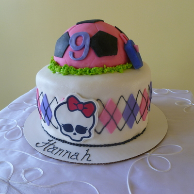 Soccer Ball, Monster High Cake