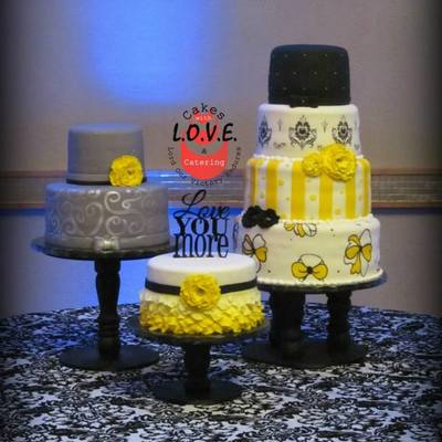 Yellow, Silver And Black Wedding