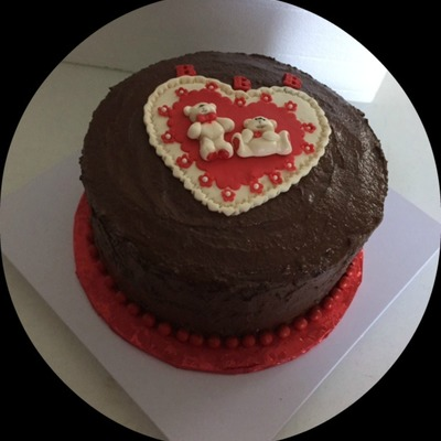 Dark Chocolate Cake Filled With Raspberry Preserves Amp White Chocolate Macadamia Nut Cheesecake Frosted In Dark Chocolate Ganache Heart