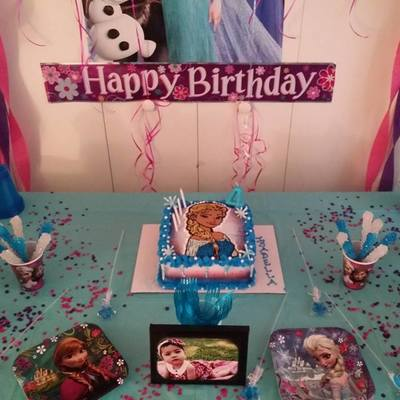 Frozen Theme Birthday Cakebc Airbrushing Candy Melts Colored Sugar Beaded Candy Cake Three Tones Inside Color