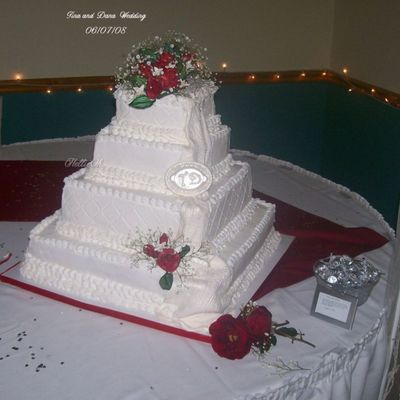 Tina's Wedding on Cake Central