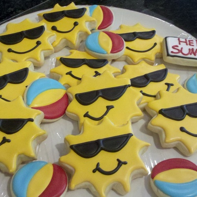 Sun And Beach Ball Cookies