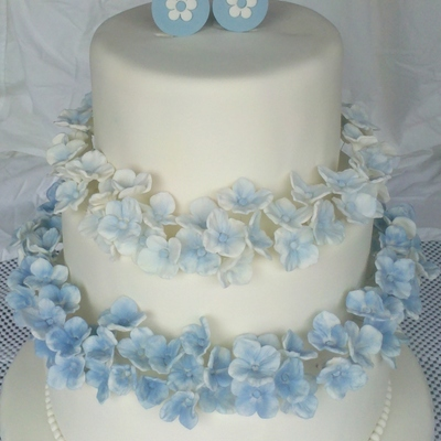 Blue Hydrangea Baby Shower