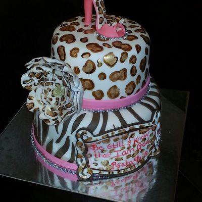 Astounding Leopard Print Cake Decorating Photos Birthday Cards Printable Giouspongecafe Filternl