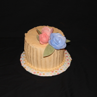 Buttercream With Wafer Paper Flowers Dusted With Petal Dust