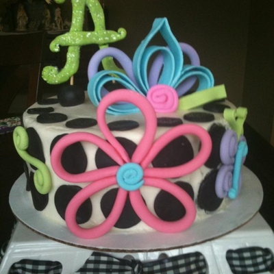 Quilled Flowers With Polka Dots