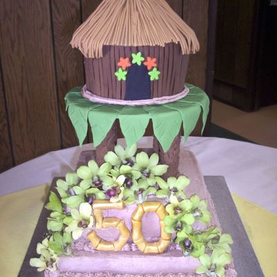 50Th Luau Tiki Hut on Cake Central