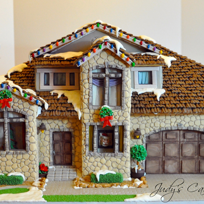 My First Gingerbread House From Scratch That Is This House Took Me 2 Weeks To Make Working All Day Every Day With Early Mornings An