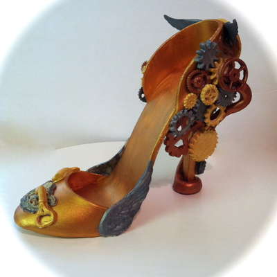 Steam Punk Time Machine High Heel Shoe