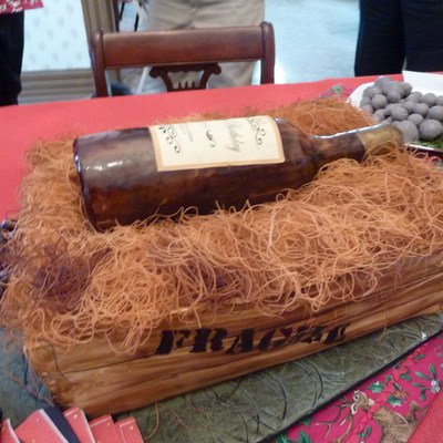 Wine Crate And Bottle For A 60Th Birthday