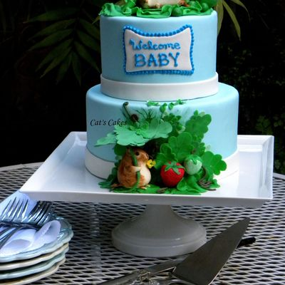 Beatrix Potter Baby Shower Cake