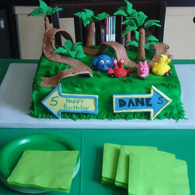 Jungle Junction Birthday Cake