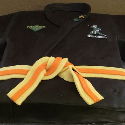 Black Belt Karate Cake