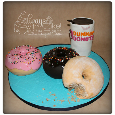 Coffee & Donuts Cake Recipe — Dishmaps