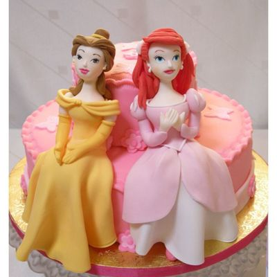 Ariel And Belle Cake