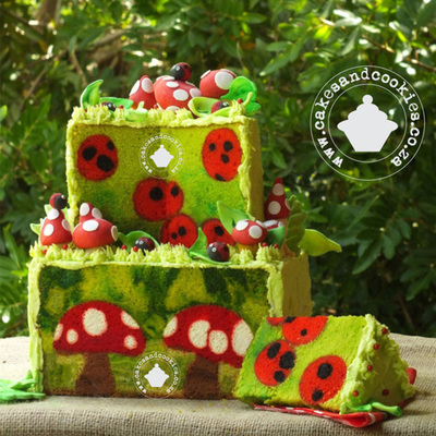 Forest Fantasy Toadstools And Ladybirds Inside Cake