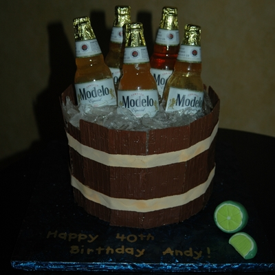 Beer bottle Cake Decorating Photos
