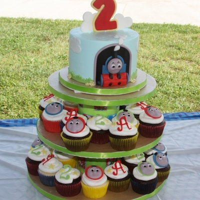 Thomas Cupcake Tower