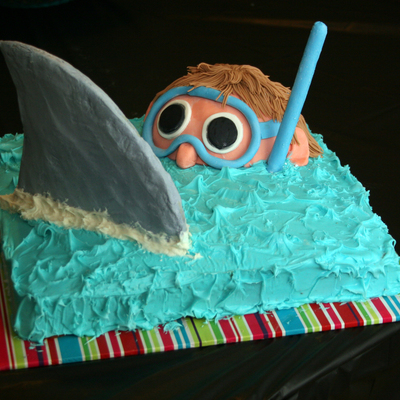 Easy Shark Birthday Cake