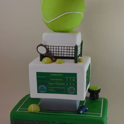 Tennis Bar Mitzvah Cake