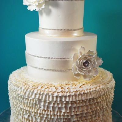 Buttercream Ruffle Wedding Cake