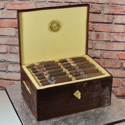 Cigar Humidor Groom's Cake