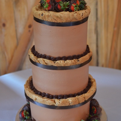 Groom's Chocolate Chip Cookie Cake