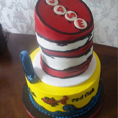 Have Hoped For A Long Time To Get To Do A Dr Seuss Type Cake Today Was My Lucky Day Fun All Buttercream With The Exception Of The on Cake Central