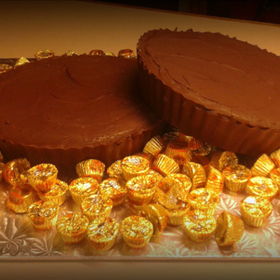 Giant Reese Cup Cakes For Groom