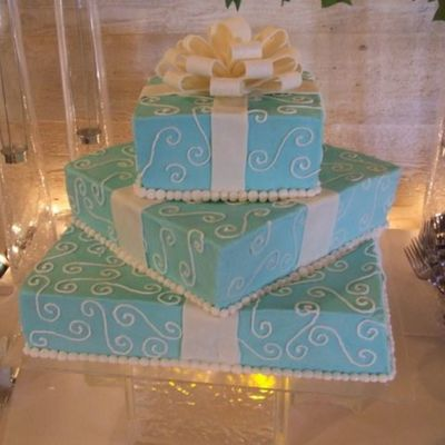 Square Tiffany Blue Cakes