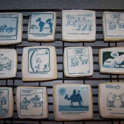 Camel Comic Cookies