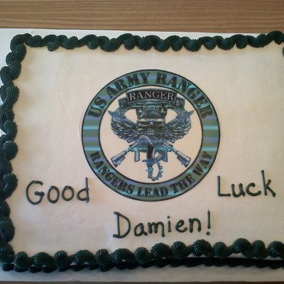 Army Rangers Graduation/good Luck Cake