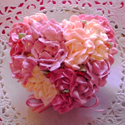 Heart Rose Bouquet Cupcakes