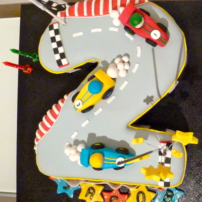 Racing Track Cake Two Firsts For Me Making And Using Modelling Chocolate Fantastic Stuff And Carving Rkts Actually Kelloggs Lcm Rice
