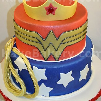 Wonder Woman Birthday Cake