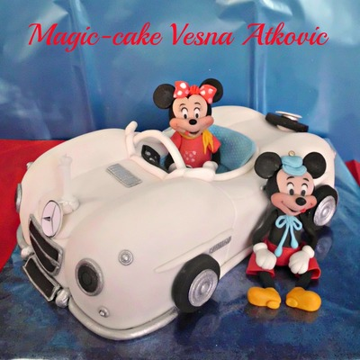 Mickey And Minnie In Mercedes