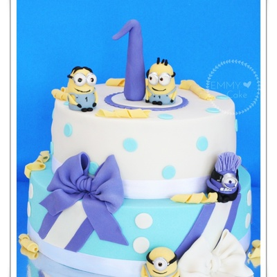 Minions First Birthday Cake