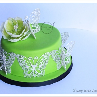 Green And Edible Lace Butterflies
