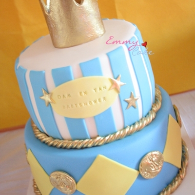 Crown Babyshower Cake For Sweet Table