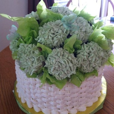 Cupcake Hydrangea Cupcakes On 10 In Basket Weave