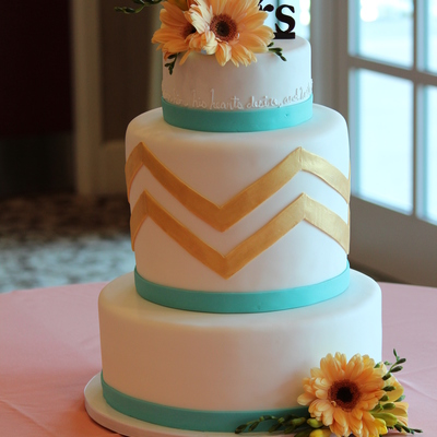 Spring Time Chevron Cake
