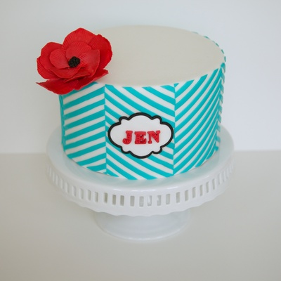 A Birthday Cake For My Friend Jen Clearly This Design Is Straight From Jessicakes New Craftsy Class Clean Amp Simple Cake Design Whic