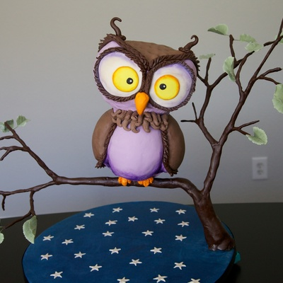 Nigel The Owl on Cake Central