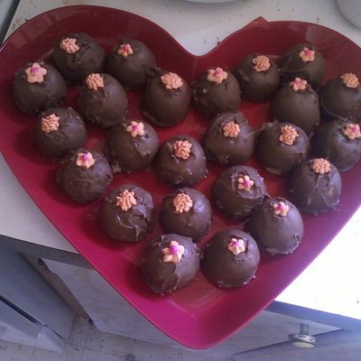 First Attempt Cake Truffles