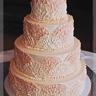 Buttercream Fan Wedding Cake